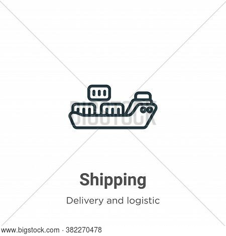 Shipping icon isolated on white background from delivery and logistic collection. Shipping icon tren