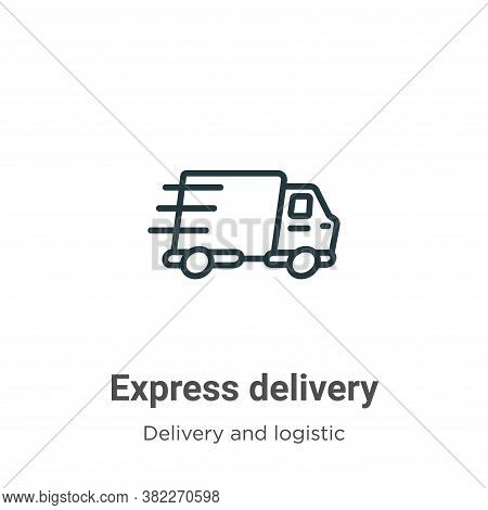 Express delivery icon isolated on white background from delivery and logistics collection. Express d