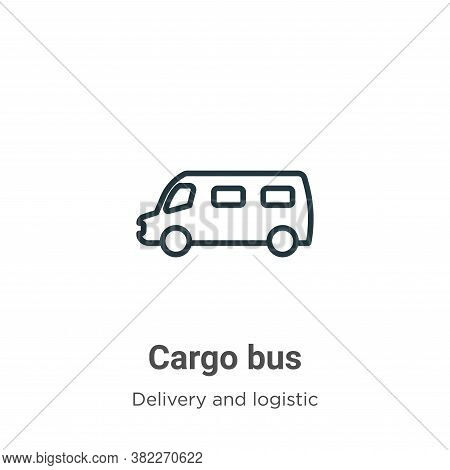 Cargo bus icon isolated on white background from delivery and logistics collection. Cargo bus icon t
