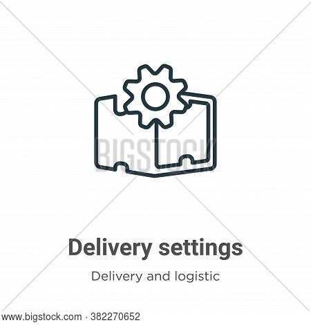 Delivery settings icon isolated on white background from delivery and logistics collection. Delivery