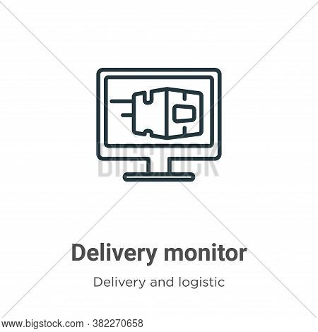 Delivery monitor icon isolated on white background from delivery and logistics collection. Delivery