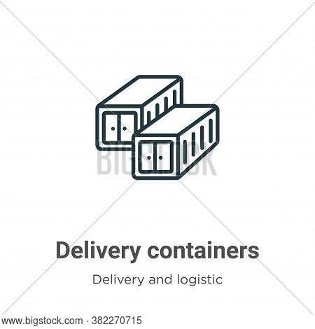 Delivery containers icon isolated on white background from delivery and logistics collection. Delive