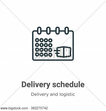 Delivery schedule icon isolated on white background from delivery and logistics collection. Delivery