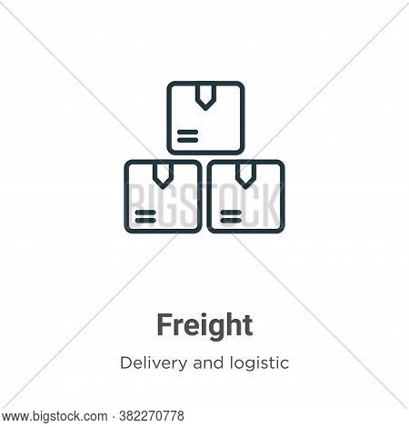 Freight icon isolated on white background from delivery and logistics collection. Freight icon trend