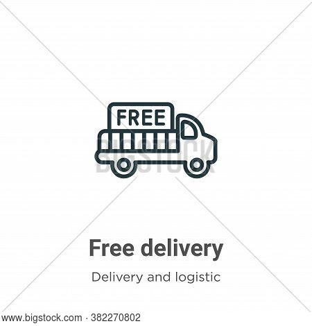Free delivery icon isolated on white background from delivery and logistics collection. Free deliver