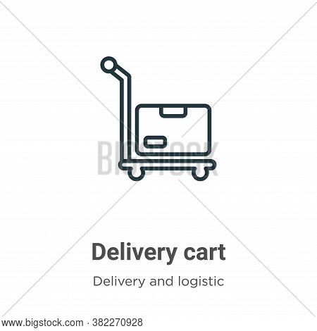 Delivery cart icon isolated on white background from packing and delivery collection. Delivery cart