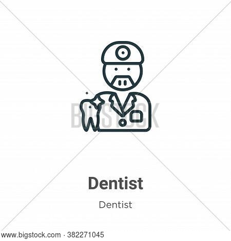 Dentist icon isolated on white background from dentist collection. Dentist icon trendy and modern De