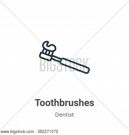 Toothbrushes icon isolated on white background from dentist collection. Toothbrushes icon trendy and