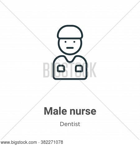 Male nurse icon isolated on white background from dentist collection. Male nurse icon trendy and mod