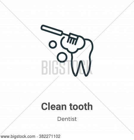 Clean tooth icon isolated on white background from dentist collection. Clean tooth icon trendy and m