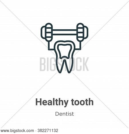 Healthy tooth icon isolated on white background from dentist collection. Healthy tooth icon trendy a