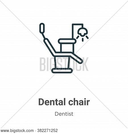 Dental chair icon isolated on white background from dentist collection. Dental chair icon trendy and