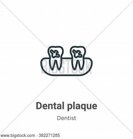 Dental plaque icon isolated on white background from dentist collection. Dental plaque icon trendy a
