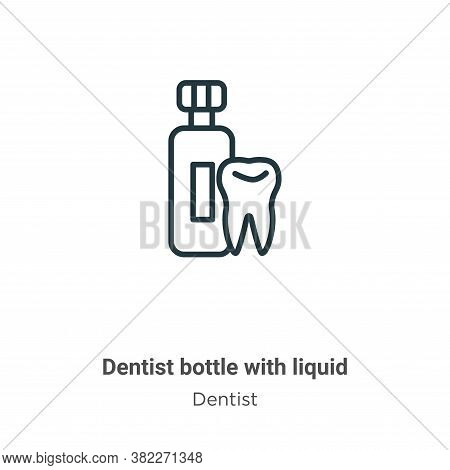 Dentist bottle with liquid icon isolated on white background from dentist collection. Dentist bottle