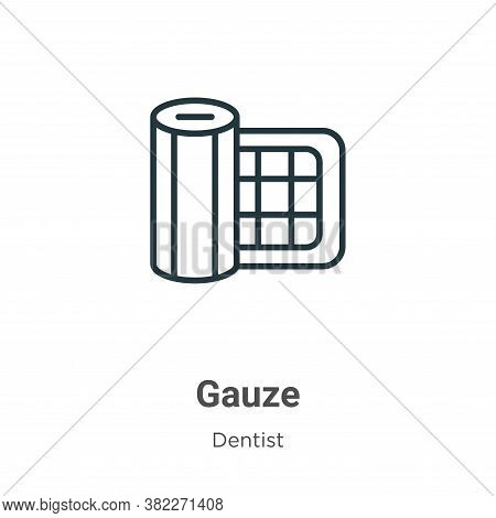 Gauze icon isolated on white background from dentist collection. Gauze icon trendy and modern Gauze