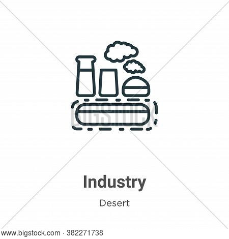 Industry icon isolated on white background from desert collection. Industry icon trendy and modern I