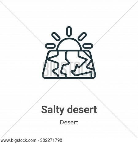 Salty desert icon isolated on white background from desert collection. Salty desert icon trendy and