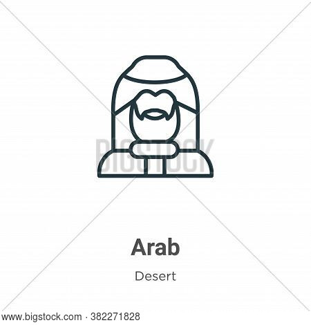 Arab icon isolated on white background from desert collection. Arab icon trendy and modern Arab symb