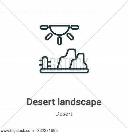 Desert Landscape Icon From Desert Collection Isolated On White Background.