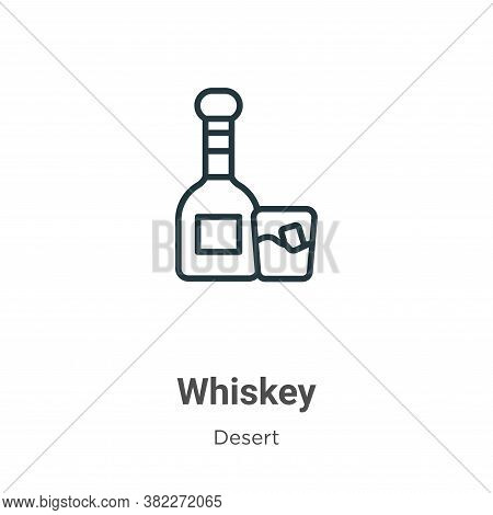 Whiskey icon isolated on white background from wild west collection. Whiskey icon trendy and modern