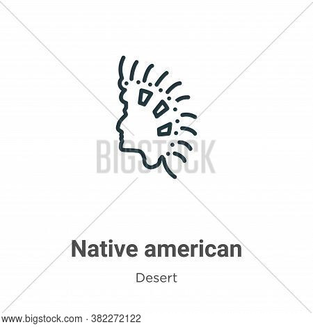 Native american icon isolated on white background from wild west collection. Native american icon tr
