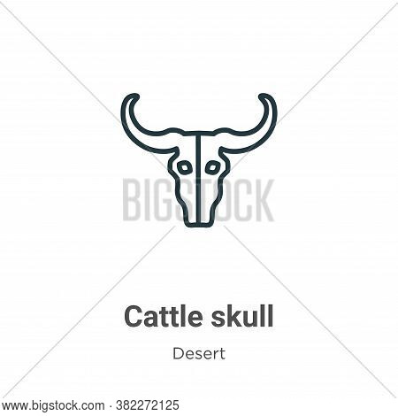 Cattle skull icon isolated on white background from wild west collection. Cattle skull icon trendy a
