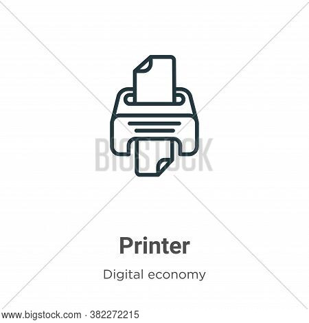 Printer icon isolated on white background from digital economy collection. Printer icon trendy and m
