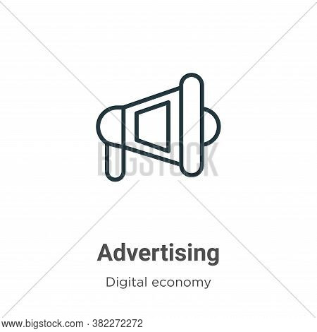 Advertising icon isolated on white background from digital economy collection. Advertising icon tren