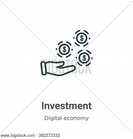 Investment icon isolated on white background from digital economy collection. Investment icon trendy