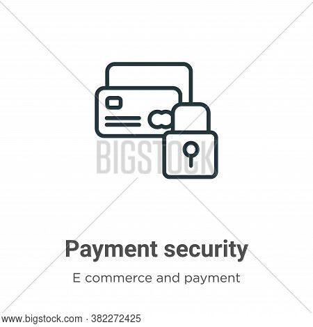 Payment security icon isolated on white background from e commerce and payment collection. Payment s