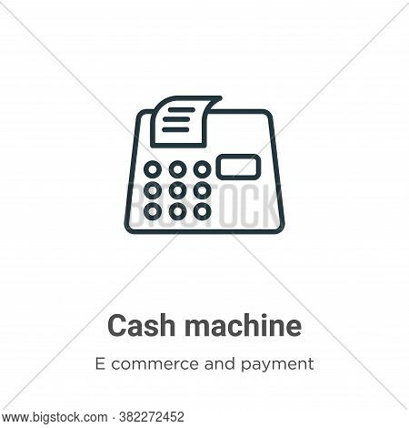 Cash machine icon isolated on white background from e commerce collection. Cash machine icon trendy