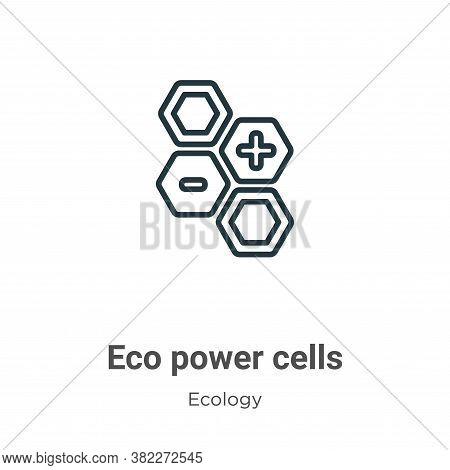 Eco power cells icon isolated on white background from ecology collection. Eco power cells icon tren