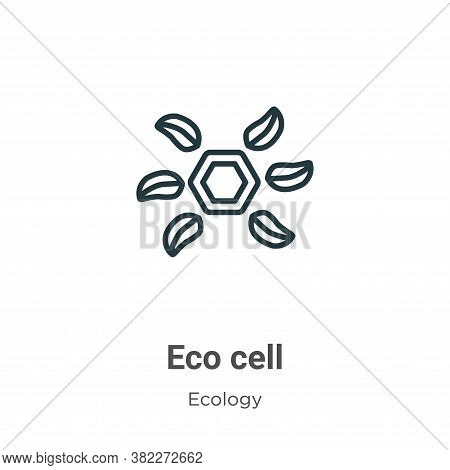 Eco cell icon isolated on white background from ecology collection. Eco cell icon trendy and modern