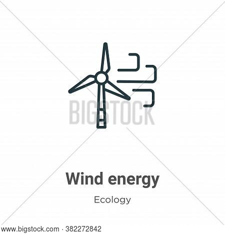 Wind energy icon isolated on white background from ecology collection. Wind energy icon trendy and m