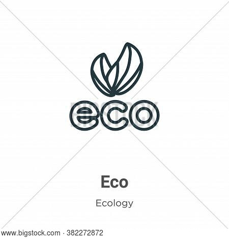 Eco icon isolated on white background from ecology collection. Eco icon trendy and modern Eco symbol