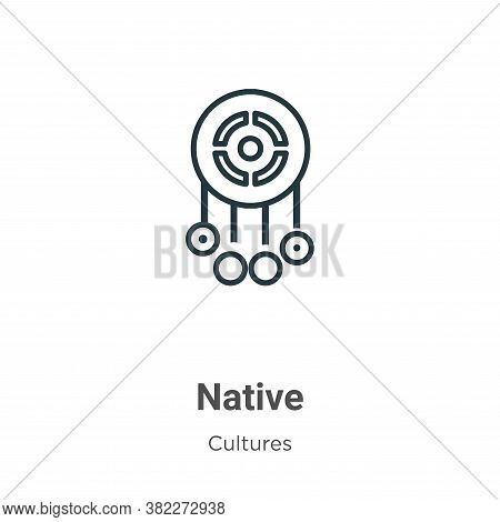 Native icon isolated on white background from cultures collection. Native icon trendy and modern Nat