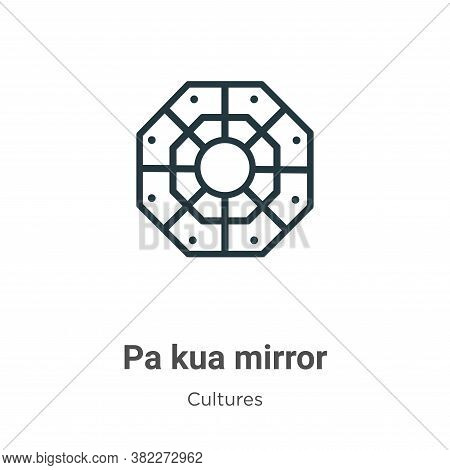 Pa Kua Mirror Icon From Cultures Collection Isolated On White Background.
