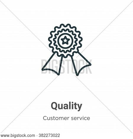 Quality icon isolated on white background from customer service collection. Quality icon trendy and