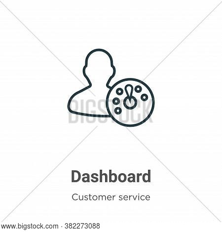 Dashboard icon isolated on white background from customer service collection. Dashboard icon trendy