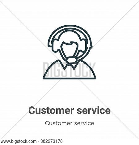 Customer service icon isolated on white background from customer service collection. Customer servic