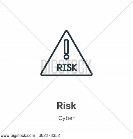 Risk icon isolated on white background from cyber collection. Risk icon trendy and modern Risk symbo