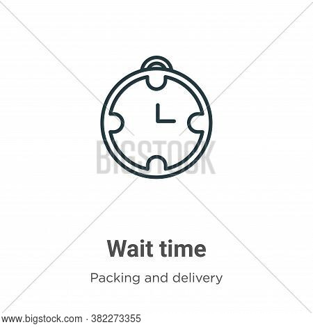 Wait time icon isolated on white background from packing and delivery collection. Wait time icon tre