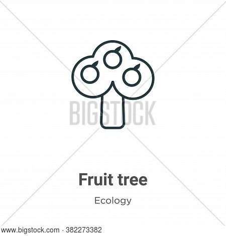 Fruit tree icon isolated on white background from ecology collection. Fruit tree icon trendy and mod