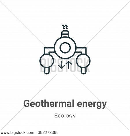 Geothermal energy icon isolated on white background from ecology collection. Geothermal energy icon