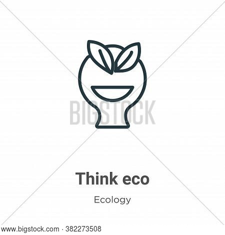 Think eco icon isolated on white background from ecology collection. Think eco icon trendy and moder