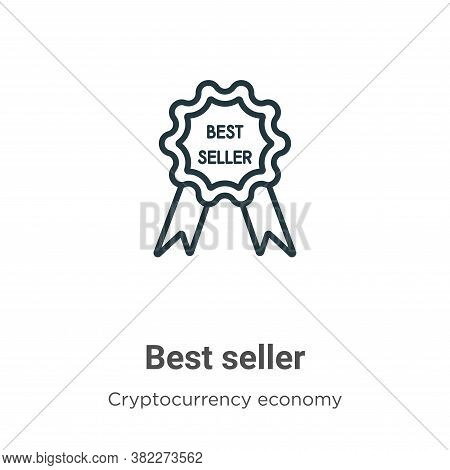 Best seller icon isolated on white background from cryptocurrency economy and finance collection. Be
