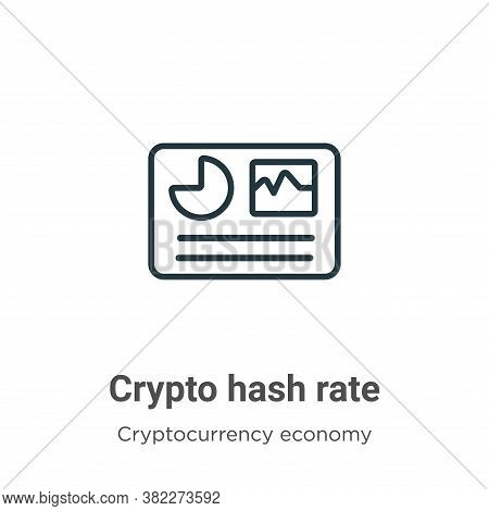 Crypto hash rate icon isolated on white background from cryptocurrency economy and finance collectio