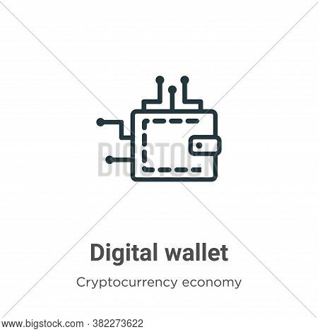 Digital wallet icon isolated on white background from cryptocurrency economy and finance collection.