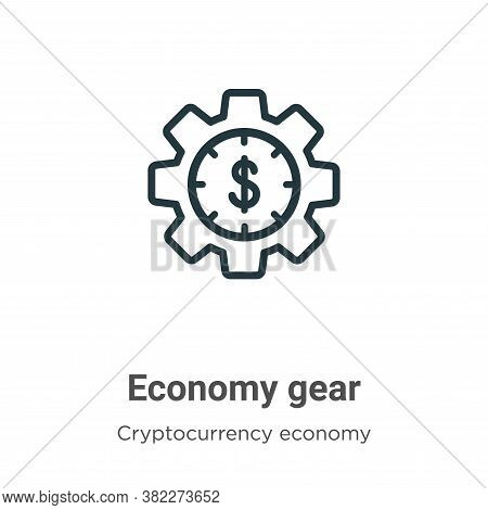 Economy gear icon isolated on white background from cryptocurrency economy and finance collection. E