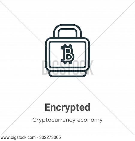 Encrypted icon isolated on white background from blockchain collection. Encrypted icon trendy and mo